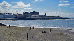 Sun, sea, sand and Aberystwyth (Rosie Girl1) Tags: uk sea people beach clouds buildings fun pier evans sand unitedkingdom pat aberystwyth colourful ceredigion sunnyday 2016 patevans colourfulbuildings royalpier welshseaside rosiegirl rosiegirl1 theroyalpier therosiegirl therosiegirl1