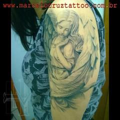 Anjos (Marcelo Cruz Tattoo) Tags: brasil tattoo angel brao angels anjo angelical tattooartist blackandgrey marcelocruz marcelocruztatuador