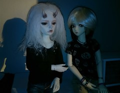 (claudine6677) Tags: 2 love ball doll demon devil bjd freddy kaja msd jointed runrise dmon dollzone freddy2