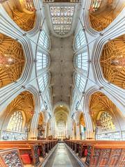 Bath Abbey, England (Londonietis) Tags: uk england panorama church abbey canon bath ceiling hdr bathabbey photomatix samyang vertorama londonietis kestasbalciunas