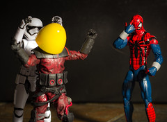 Messing Around (Vimlossus) Tags: easter star action egg spiderman wars figures