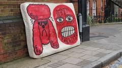 Dumped graffiti matteress in Stepney Green London E1 (Carol B London) Tags: graffiti e1 stepney dumped londone1 towerhamlets stepneygreen lbth matteress