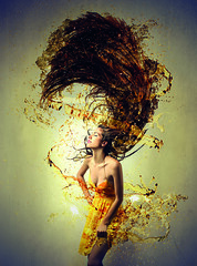294560843 (friseurenoe) Tags: light woman white vortex art girl beautiful beauty smile fashion yellow wall pose hair happy person 3d crazy model mess long artistic background explosion dream young style happiness twist drop attractive draw elegant splash hairstyle success confusion liquid caucasian