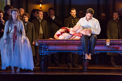 Charles Castronovo and Diana Damrau in Katie Mitchell's Lucia di Lammermoor ©2016 ROH. Photograph by Stephen Cummiskey (Royal Opera House Covent Garden) Tags: music opera coventgarden royaloperahouse royalopera donizetti luciadilammermoor charlescastronovo dianadamrau bykatiemitchell
