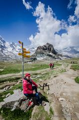 Taking a Break, Gornergrat, Switzerland (Station Studios) Tags: switzerland hiking events places gornergrat zermatt robinmargaret