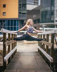 Geraldine (Alex.A.M Photography) Tags: city urban alex girl fashion photography dance cool model nikon candid leeds dancer jeans blonde moldovan flexible brdige d610