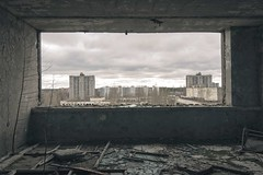 'Inside Out'...... (Taken-By-Me) Tags: door city two urban plant news building tower abandoned window wall clouds neglect lost high nikon closed doors power view floor decay empty exploring centre north ruin nuclear eerie ukraine creepy adventure explore takenbyme forgotten vacant block walls rise left derelict demolished zone chemical shut ue chernobyl urbex pripyat
