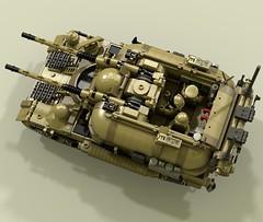 """Firemoth"" Self-Propelled Anti-Aircraft Gun (-Lee Barton-) Tags: tank lego antiaircraft ldd firemoth spaag lddtopovray opencabin"