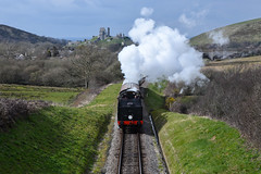 Passing Corfe (sarah_presh) Tags: train nikon railway steam dorset d750 swanage steamtrain corfecastle nikond750