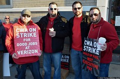 Strike! (2) (Thomas Altfather Good) Tags: nyc newyorkcity strike verizon cwa thomasgood thomasaltfathergood tagphotography tagfotograf standup2vz standup2verizon cwalocal1102