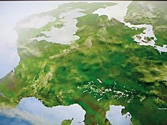 Illustration of the Glacial Maximum European land mass during the Paleolithic Era (old Stone Age) (Diego Sideburns) Tags: iceage basque paleolithic