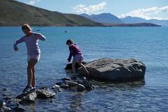 Crystal clear Lake Tekapo, NZ (jozioau) Tags: lake water stones turquoise clear stepping variosonnart282470