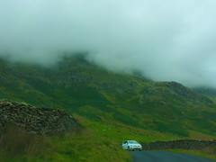 into the clouds (dtapkir) Tags: road england lake green car clouds drive scenery district vehicle serene
