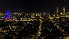 Bcn, torres Agbar y Mapfre (Jose Txetxu) Tags: barcelona city night bcn nocturna catalunya skynight agbar