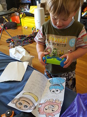 Sam and his camera (quinn.anya) Tags: toddler sam drawings card camra