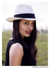 Alessia (Gaetano Camiciotto) Tags: portrait sunlight face hat closeup glamour women ritratto primopiano canoneos7dmarkii ef50mmef18stm
