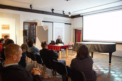 """»Museums as social arenas« Presentation of EMEE project and EMEE workshop Museum of Gorica/Slovenia, April 21st 2016 • <a style=""""font-size:0.8em;"""" href=""""http://www.flickr.com/photos/109442170@N03/26547611322/"""" target=""""_blank"""">View on Flickr</a>"""