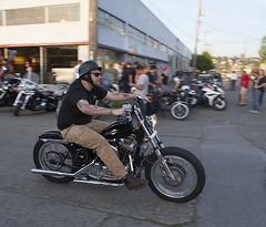 Strawb (B Shree B) Tags: seattle sunset cafe motorcycle ballard racers backfire