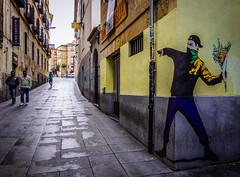 Bansky (Walimai.photo) Tags: street espaa color colour lumix calle spain grafitti panasonic salamanca bansky lx5