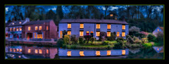 The Mudlings (A Digital Artist) Tags: england panorama reflection building water beautiful architecture clouds landscape pond village waterfront cheshire northwest widescreen panoramic serene tranquil scenics lymm canon1855mm kevinwalker canon1100d