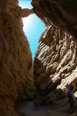 "Anza Borrego ""the Slot"" (Four Straites) Tags: california park camping rock canon desert state exploring canyon hike fisheye formation trail geology slotcanyon"
