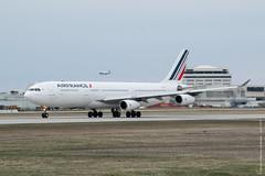 Airbus A340-313 Air France (F-GLZK) - YUL (Sylvain C-G ) Tags: france plane airplane airport nikon montreal air international airbus af takeoff spotting a340 340 yul planespotting afr cyul avgeek pierreelliotttrudeau a340313 fglzk 340313 d5300