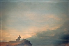 (AirSonka) Tags: sunset sky dog film analog 35mm lomo dusk doubleexposure toycamera analogue miro smena smena8m doubleexposed pelcula filmphotography pellicule kodakgold200 airsonka doppelbelichtung soniakaniss