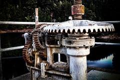 Release Valves (stefanws) Tags: california lake water nikon rust peeling paint marin reservoir marincounty valves mechanism d80