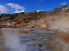 Iceland Hot Springs (GeorgiaMelodie) Tags: wild sky colour ice nature landscape fire volcano lava iceland elements geology volcanic geothermal reykjanes molten elemental geopark