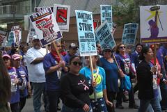 Joined in Solidarity (Robb Wilson) Tags: losangeles demonstration downtownla grandavenue freephotos strikingworkers strikingjanitors