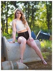 Megan - Trespass (jfinite) Tags: beauty fashion spring model legs bokeh environmental curls portraiture shorts refuse halter