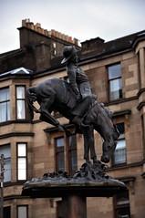 cody rides again (werewegian) Tags: wild horse statue bill buffalo glasgow equestrian dennistoun jan16 werewegian day2366 366the2016edition 3662016 2jan16