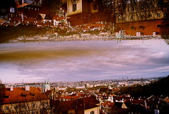 Everything is upside down in Prague (m.sukhanenko) Tags: houses sky film architecture clouds buildings fun iso200 prague upsidedown doubleexposure joy multipleexposure czechrepublic analogue vivitar olympusom10 wideanglelens fujifilmsuperia 24mmlens experimentingwithphotography