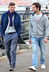 (ManontheStreet2day) Tags: boy smile belt hoodie crotch twink sneakers jeans bluejeans