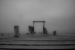 Puertito (Ricardo Alvarado) Tags: mar madera embarcadero quintanaroo mahahual infrarojo