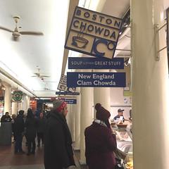 BOSTON CHOWDA ―SOUP & OTHER GREAT STUFF 🍲 (anokarina) Tags: waterfront boston massachusetts ma signs market publicmarket appleiphone6 bostonpublicmarket bostonist