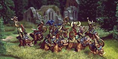 Goblin warband (torq42) Tags: 28mm fantasy goblin warhammer wargame tabletop gamesworkshop squig nightgoblins songofbladesandheroes squigrider dragonrampant