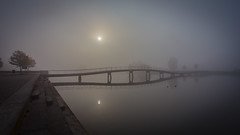 Bridge (DC P) Tags: bridge sunset sun color water netherlands beautiful fog sunrise other bokeh outdoor side ngc foggy award running trail passion refelction bej