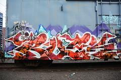 DSC_0027 (Mekrok Southern) Tags: railroad bench logo railcar sp rusted spraypaint boxcar flatpanel wor southernpacific moniker buek