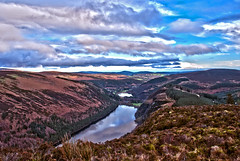the spinc, Glendalough (egitaf) Tags: ireland sky mountain lake water grass weather clouds glendalough valley wicklow hdr greass