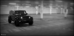Unlimited. (Papa Razzi1) Tags: bw jeep garage january unlimited wrangler 2016 21365 6474