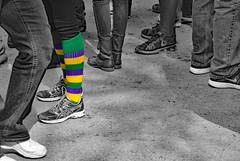 She'll Be the One in the Mardi Gras Socks (BKHagar *Kim*) Tags: bkhagar mardigras neworleans nola parade street napoleon day celebration carnival inexplore explore