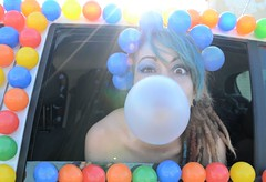 Life is a Party (Angelo Nairod) Tags: light party sun color car eyes funny pop madness bluehair crazycar davidbowie rayoflight beyonce coloredballs lifeisaparty bigbabol angelonairod