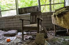 inside (Brian Rome Photography) Tags: travel usa brick abandoned broken america garbage chair michigan tagged explore urbanexploration american cinderblock dilapidated northville urbex