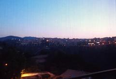 Lights of sunrise... (Sara Makboul) Tags: bridge pink sky italy mountain skyline sunrise lights emotion shades calabria catanzaro lightblue newday pontemorandi