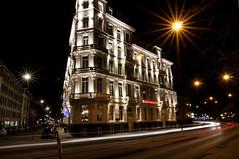 Amsterdam long exposure (PaulHoo) Tags: city longexposure nightphotography light urban holland building amsterdam architecture night star evening movement nikon nightshot traffic leidseplein