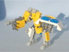 Bastion Soldier (Mantis.King) Tags: lego scifi bastion futuristic mecha mech moc microscale mechaton mfz mf0 mobileframezero