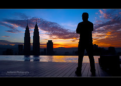 Good Morning World! | Candid (AnNamir™ c[_]) Tags: morning silhouette sunrise candid olympus malaysia kl klcc annamir platinumsuite