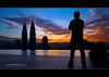 Good Morning World!   Candid (AnNamir™ c[_]) Tags: morning silhouette sunrise candid olympus malaysia kl klcc annamir platinumsuite