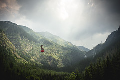 Sky Cart (Sorin Mutu) Tags: travel trees green clouds forest romania bucegi transfagarasan